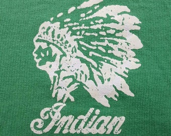 INDIAN MOTOCYCLE Co. Inc. Green Speelout Logo Longsleeve Shirt