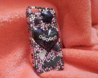 Twilight Kitten Rhinestone iPhone 5s case