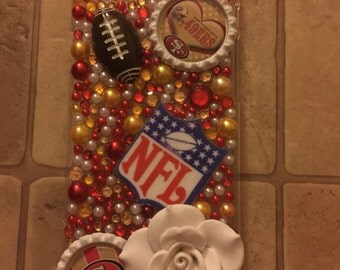 Iphone 6/6s, Bling Bling Cell Phone Case, Iphone Case, Football Fan, San Fransico, 49ers