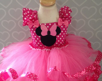 Minnie Mouse tutu dress/minnie mouse dress/minnie mouse costume/pink Minnie Mouse dress/pink Minnie Mouse tutu/Minnie mouse/
