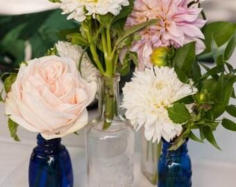 5 Vintage Bud vases, assorted colors