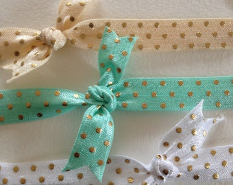 Cute Elastic Polkadot Headband for newborns, toddlers, girls