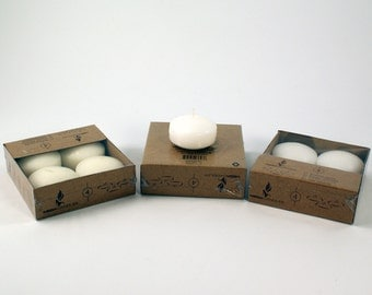 "Unscented 2"" Floating Disc Candles Set of 4 PCS"