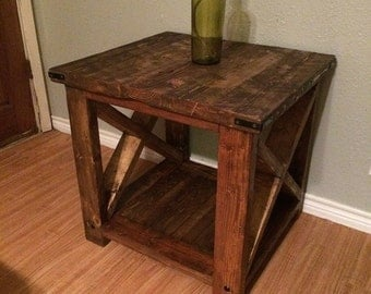 Rustic, distressed, End Table, Night Stands ( set)