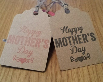 10 kraft happy mother's day Gift Tags Handmade Vintage Style ,mothers day