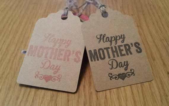 Mother S Day Tags: Items Similar To 10 Kraft Happy Mother's Day Gift Tags
