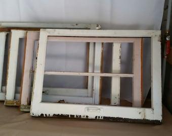 Vintage Wood Window Frames Chippy Farm House