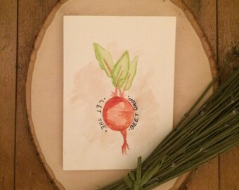 "Positive Paper Co. ""Let the Beet Drop"" card"