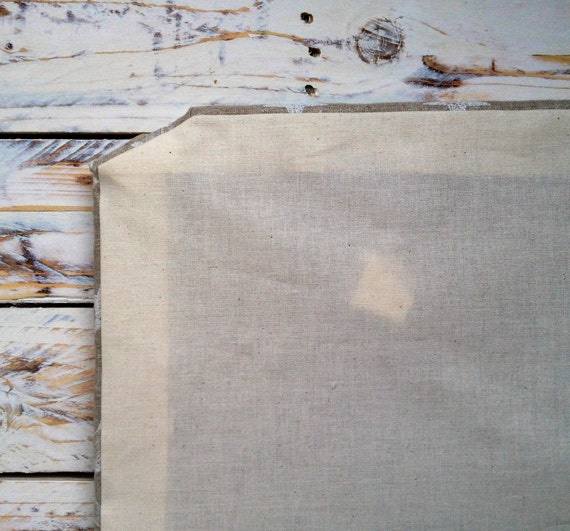 Fabric memo board stars natural linen pin board french memo for Linen cork board