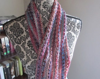 Multi colored infinity cowl
