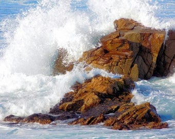 Wave On Rocks Photograph - California Coast/Beach (17 Mile Drive) - Fine Art Nature Photography Print