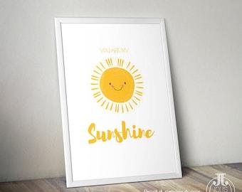 "Affiche enfant ""You are my Sunshine"""