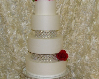 Bling Wedding Cake Stand And Separators