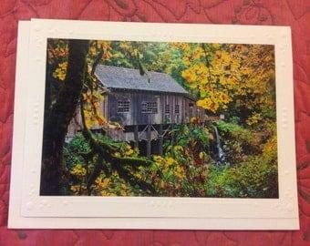 4 Cedar Creek Grist Mill Greeting Cards