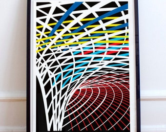 London King's Cross - Illustrated poster print. Matte and Giclee Art Prints in A3 or A2 sizes. Wall Art, Home Decor, London Prints