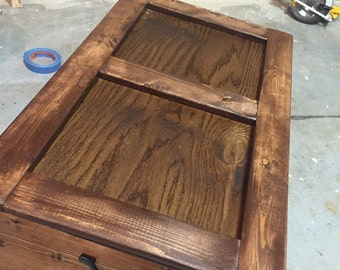 Custom made wooden chest