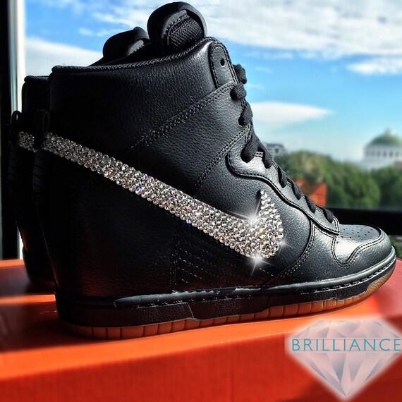lowest price ebf63 22c0a on sale Swarovski Nike Shoes Bling Nike Dunk Sky Hi by BrillianceSupplyCo