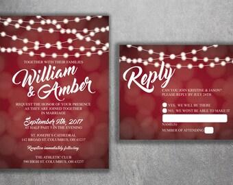 red wedding invites   etsy, Wedding invitations