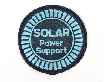 Solar Power Support Vintage Patch