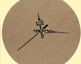round decoupage clock set
