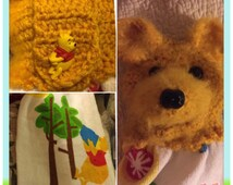 Winnie the Pooh crochet top Disney kitchen towel
