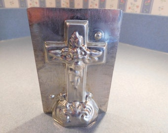 Easter Cross #332 Vintage Metal Candy Mold