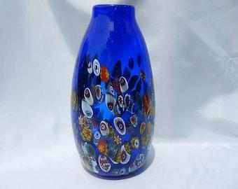 wholesale Murano vase inlay Millefiori signed Height: 29.5 cm 1kg5