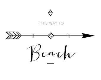 A3 Beach Print