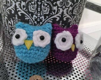 Mini Crochet Owls: Set of Two