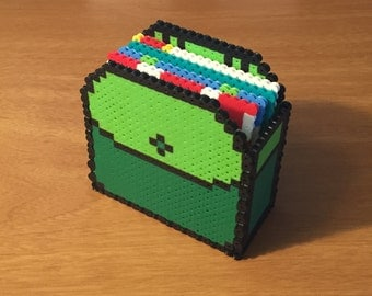 Adventure Time Inspired Coasters with Holder   Nerdy Collectible   Pixel Art   Finn's Backpack   Cartoon Network   Geeky