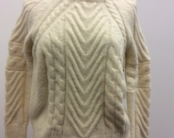 Brand New With Tags Cream Dolman Sleeve Cable Knit Sweater
