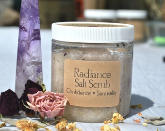 Radiance Sea Salt Body Scrub / Holistic Body Scrub / Essential Oils / Holistic Gift / Mother's Day / Gift for Her / Gift for Wife / Natural