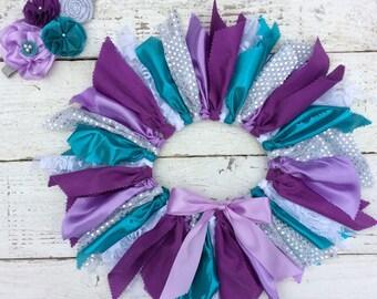 under the sea tutu 1st birthday 2 birthday purple teal sparkle tutu fabric tutu mermaid tutu