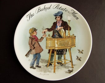 WEDGWOOD PLATE - The Baked Potato Man by John Finnie