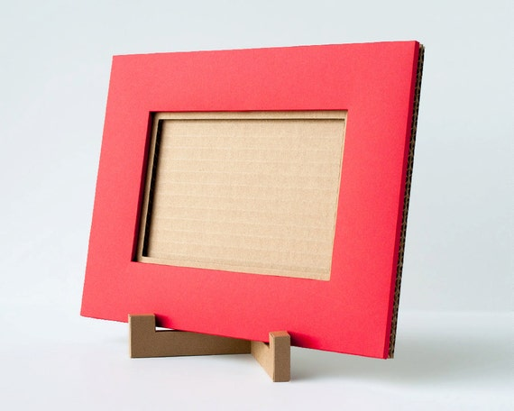 large picture frame 4x6 picture frame cardboard red by paperames. Black Bedroom Furniture Sets. Home Design Ideas