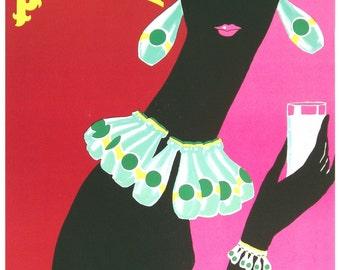 Vintage Perrier Advertising Poster Print
