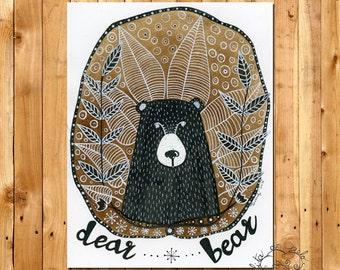 """""""Dear Bear"""" - Limited Edition print"""