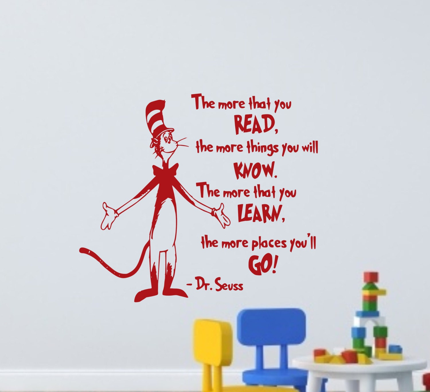 The More That You Read Dr Seuss Wall Decal Dr Seuss Wall