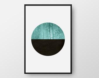 Printable Scandinavian Poster, Nordic Poster, Minimalist Scandinavian Print, Geometric Art, Scandinavian Geometric Art, INSTANT DOWNLOAD