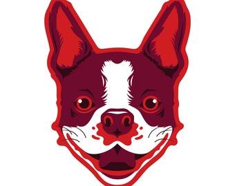 Boston Terrier Die Cut Sticker GD111