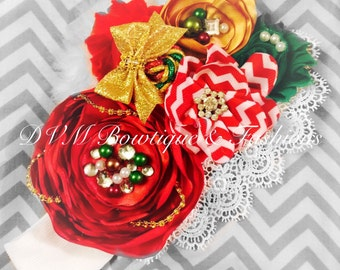 Christmas Flower Headband