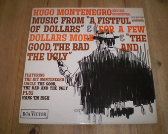 Music From The Man With no name Vinyl LP Album,1967 Stereo First Pressing,Hugo Montenegro,Clint Eastwood westerns