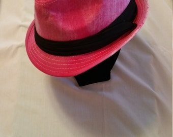 Snow Dyed Cotton Fedora