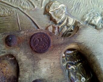 Vintage Warranted Superior Hand Saw, Antique 1800s Henry Disston Hand Saw, Rare Vintage Tool, Antique Saw, Antique Wood Saw, Eagle Medallion