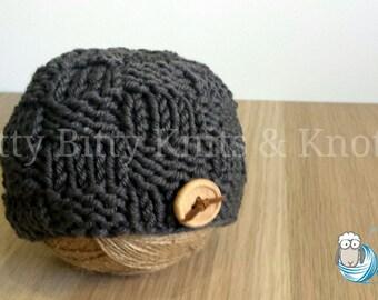 Basket Weave Beanie (Storm)
