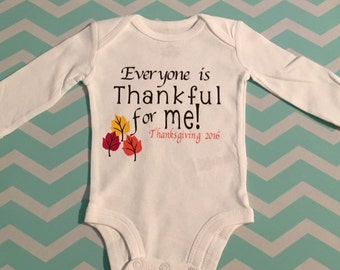 Thanksgiving Onesie-Newborn Thanksgiving Onesie-Child Thanksgive Onesie-Custom Onesie-Fall Onesie-Thankful-Turkey Day Onesie-Give Thanks