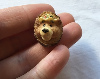 Cute 3d Bear Face Pin