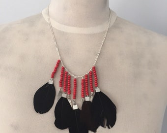 "Necklace ""Indian red"""