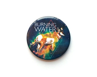 Burning Water Issue 1 Button