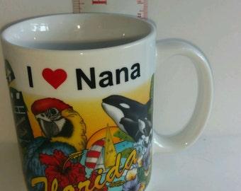 I Heart Love Nana Florida Coffee Mug Sunshine State